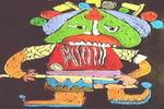 武士儿童画作品欣赏
