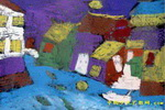 水乡之夜儿童画