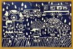快乐的雨季儿童画