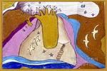 脚印儿童画