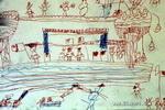 快乐的一天儿童画作品欣赏
