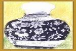 黑白花瓶儿童画