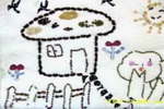 丰收的家儿童画