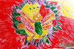 《美丽的孔雀》儿童画