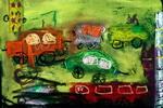 《马路上的汽车》儿童画