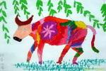 《春牛》儿童画