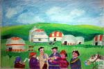 《草原欢迎您》儿童画