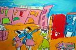 《商业街》儿童画