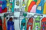 《十字街头》儿童画