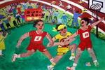《校园运动会》儿童画