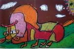 《牛》二儿童画