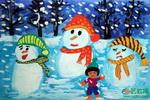 《今年的雪真大呀!》儿童画