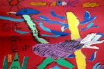《鸵鸟》三儿童画