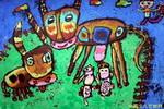 《可爱的牛宝宝》儿童画