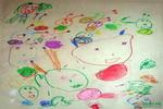 《和蛙牛玩》儿童画