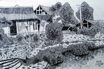 《上里古镇》儿童画