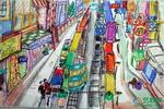 《街道》儿童画