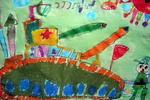 《坦克大战》儿童画