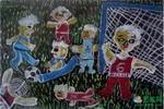 《我眼睛中的足球赛》儿童画