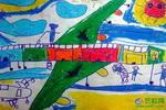《多功能的飞机》儿童画