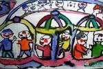 《飞向宇宙》儿童画