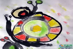 《蜗牛》儿童画