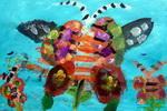 《蝴蝶花》儿童画