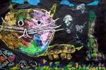 《花脸猫》儿童画