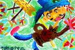 《卖风车》儿童画