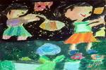 《花》二儿童画