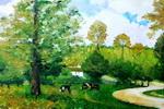 《风景》一儿童油画