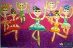 《芭蕾舞》儿童画