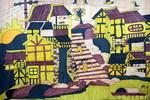 《古镇黄昏》儿童画