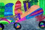 《我的时尚跑车》儿童画