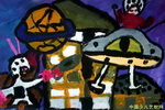 《卫星人》儿童画