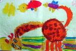 《爱吃草的鹿》儿童画