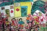 《春暖花开》儿童画