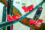 《立交桥》儿童画