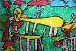 《牛的一家》儿童画