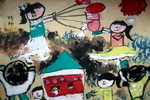 《郊外》儿童画