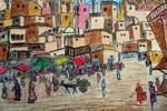 《古老的城镇》儿童画