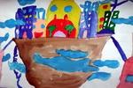 《空中之城》儿童画