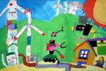 《风能垃圾处理厂》儿童画