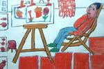 《我的美术老师》一儿童画