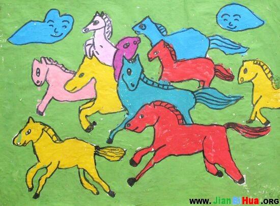 儿童画马_儿童画马图片大全大图_儿童画马图片大全