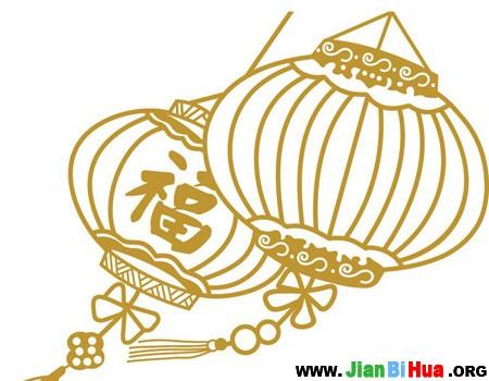 春节灯笼简笔画图片大全高清图片