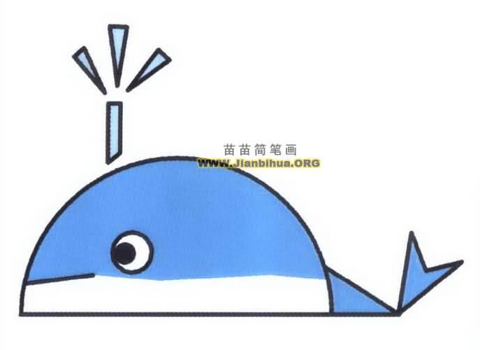 鲸鱼简笔画图片教程