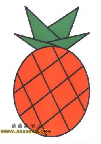 菠萝简笔画图片教程