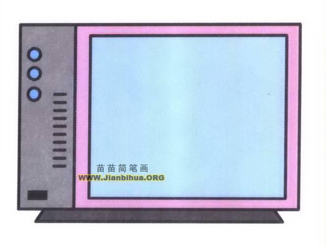 电视机简笔画图片教程