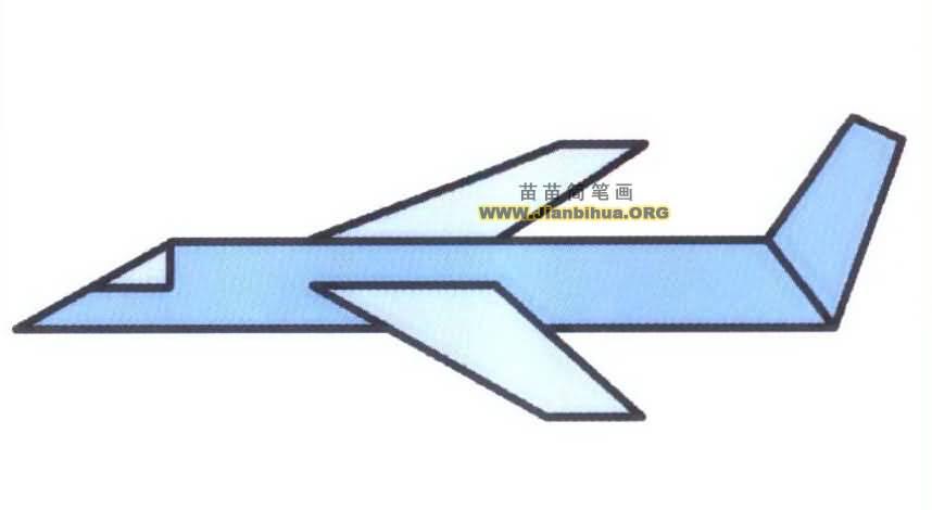 飞机简笔画图片教程